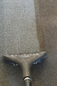 Half clean carpet